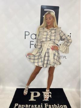 Dámske karované šaty PF