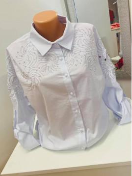 Biela dámska košeľa