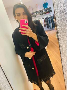 Dámsky luxusný kabát Paparazzi fashion
