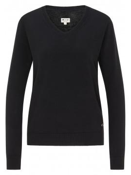 Dámsky čierny pulovér