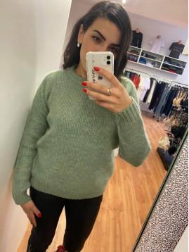 Dámsky jesenný sveter - zelený