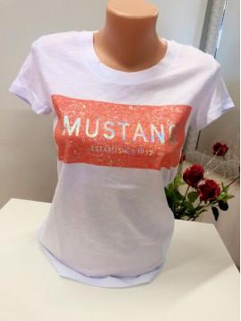 Dámske tričko biele s nápisom Mustang