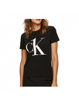 Dámske tričko čierne s bielým nápisom CK