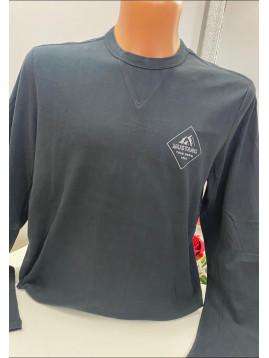 Pánske tričko čierne s dlhým rukávom
