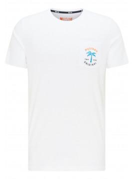 Pánske biele tričko - MUSTANG