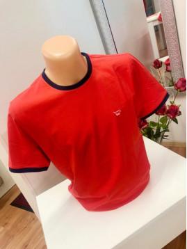 Pánske tričko červené s logom MUSTANG
