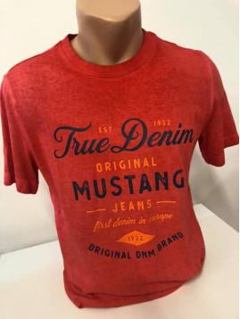 Pánske oranžové tričko MUSTANG