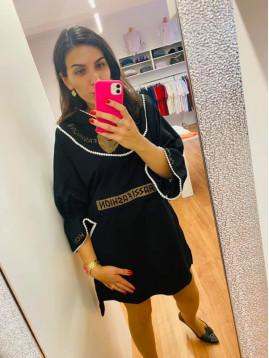 Dámske šaty PF čierne s mašľou