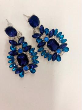 Kamienkové modré náušnice