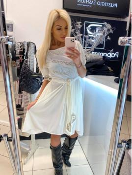 Biele šaty Paparazzi fashion