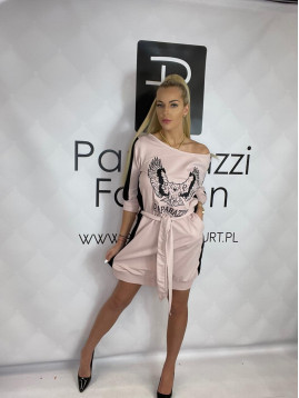 Dámske šaty- ružovo-čierne PF