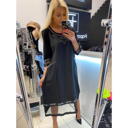 Dámske šaty čierne Paparazzi fashion - pre moletky